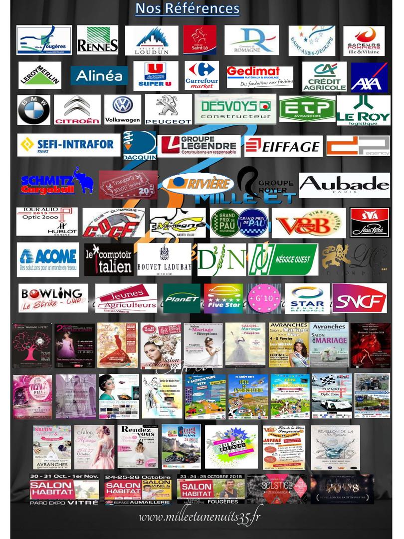 P35. Catalogue Milleet une Nuits Evénements Fougères, Vitré, Rennes, Ille et Vilaine, Laval, Mayenne, Bretagne, Normandie, Pays de La loire...