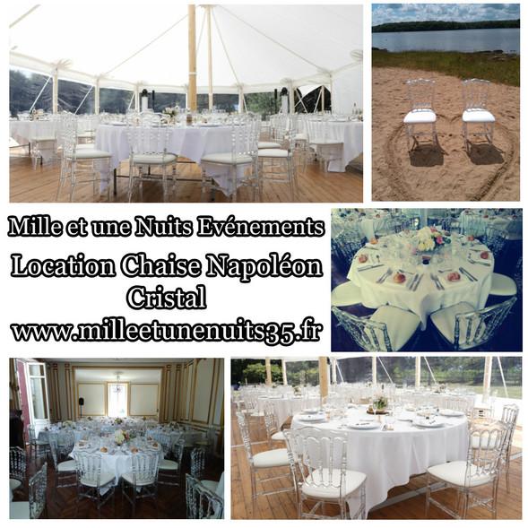 Location chaise Napoléon cristal, translucide pour mariage, Fougères, St Malo,Vitré, Rennes, Ille et vilaine 35, Bretagne, Normandie, Mayenne, Pays de la Loire...