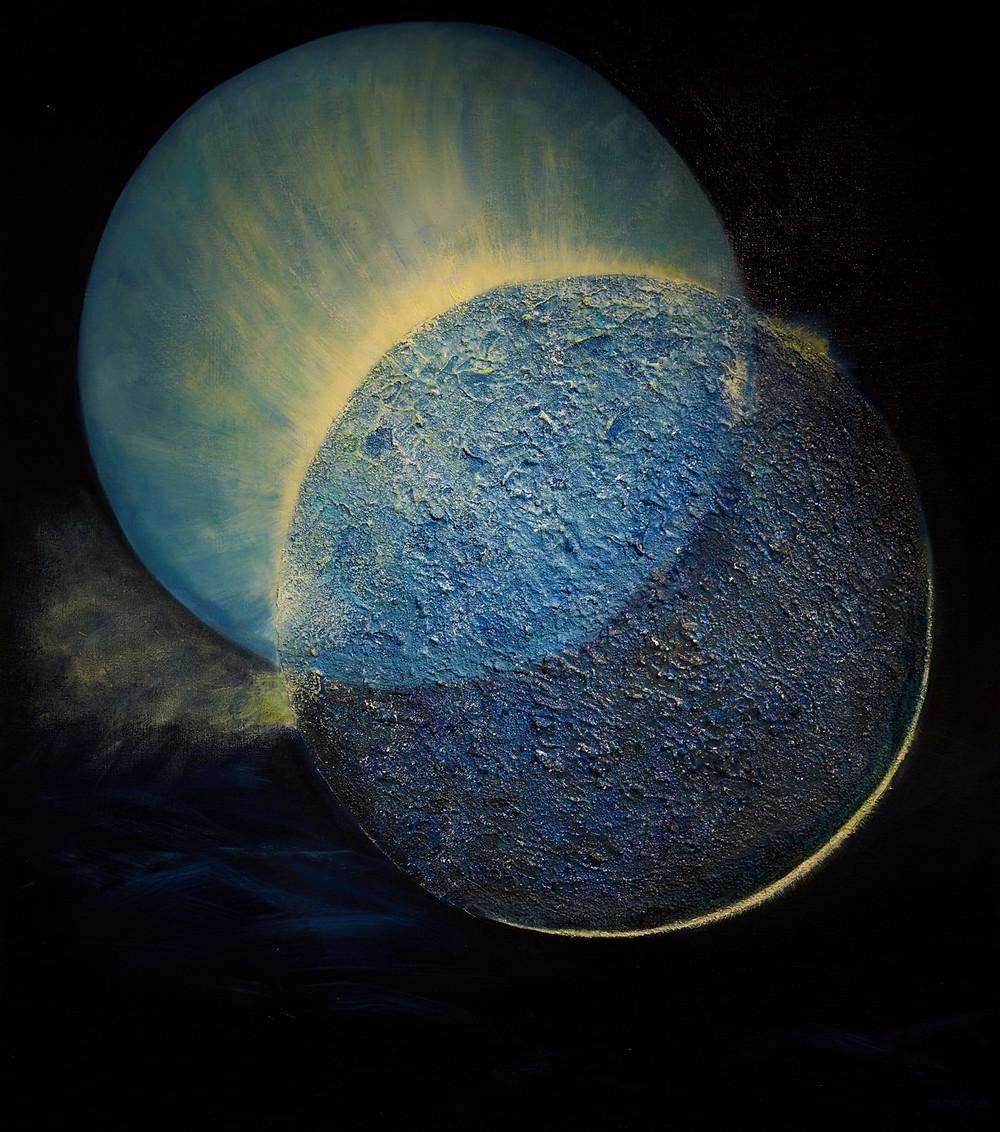 Werk van Marjan Wijnholds-Dost: uit de serie De Schepping