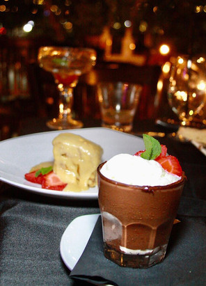 Chocolate Nutella Mousse & Bread Pudding