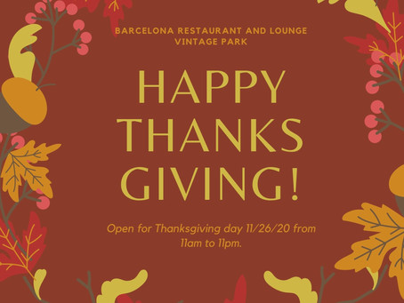 Barcelona is open for Thanksgiving day!