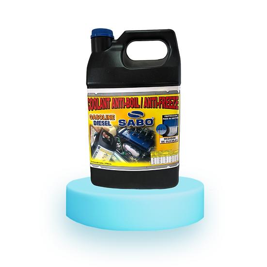 SABO COOLANT ANTICALOR Anticongelante para gasolina o diesel. 46% de GLICOL.