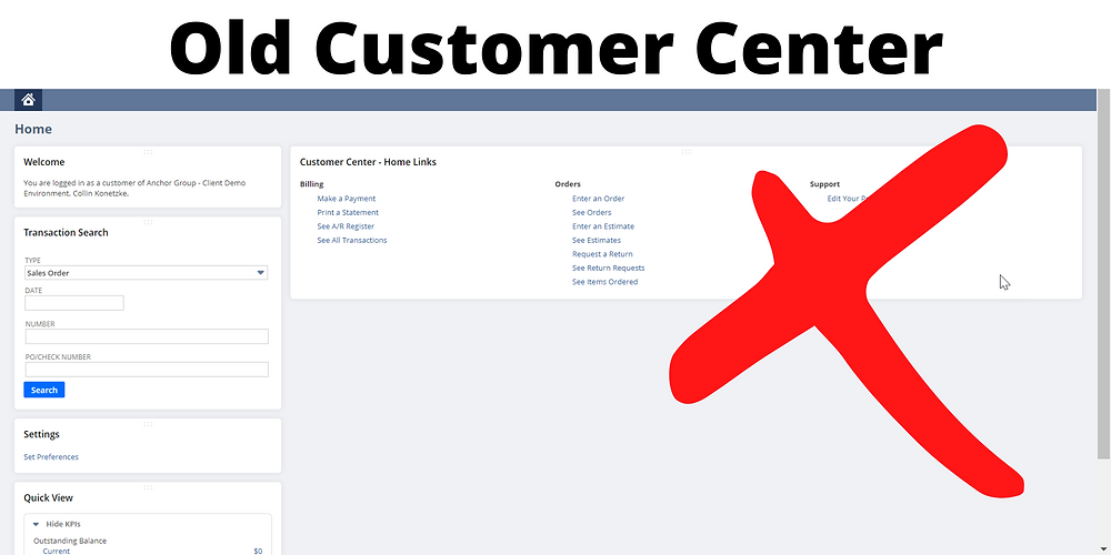 The old method of customer portals in NetSuite