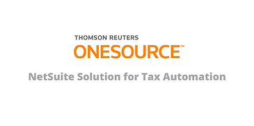 Onesource NetSuite Taxes