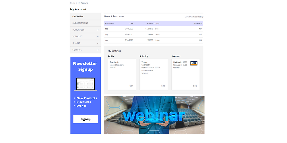 Take the time to update the UX of SuiteCommerce MyAccount to upsell or promote information