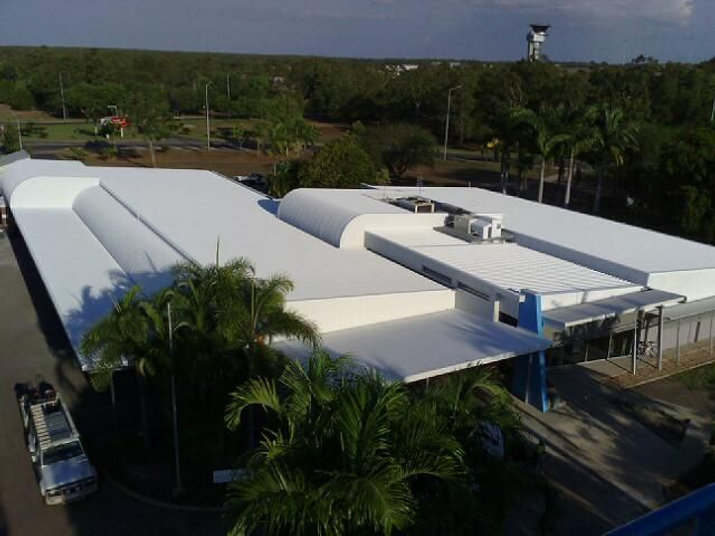 Darwin Airport painted with SkyCool heat reflective coating