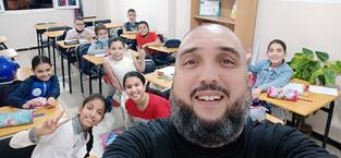 M. Hammouda et ses élèves de 5ème primaire