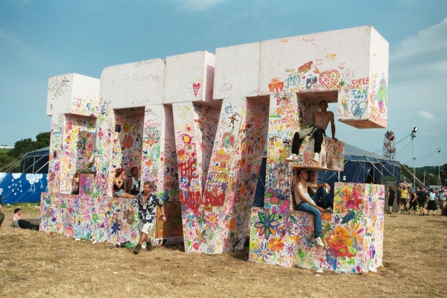 The giant LOVE sign inspired by The Beatles