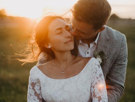 Jesse + Heidi // Backyard Barn Wedding