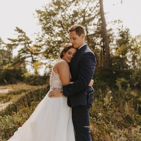Mike + Emily / Intimate Lake Michigan Wedding