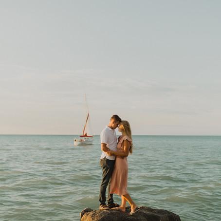 David + Kathleen | Sarnia Beach Engagement