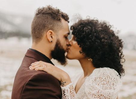 Lakiah + Julian  //  Intimate Colorado Wedding