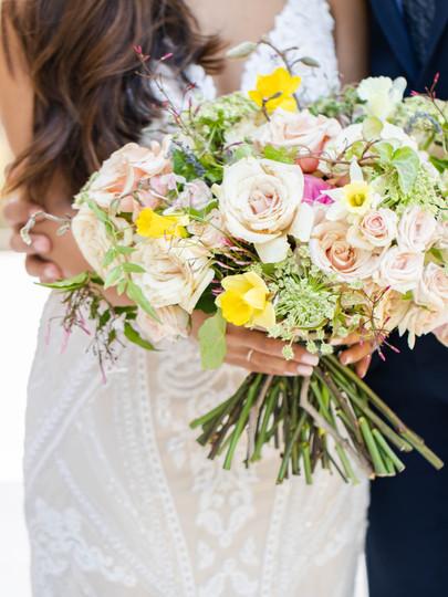 spring oval spiral bouquet