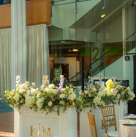 Kasey + Mark wedding flowers