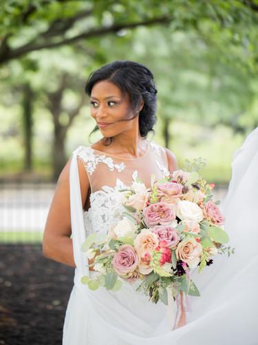 Mauve, blush and pink bouquet