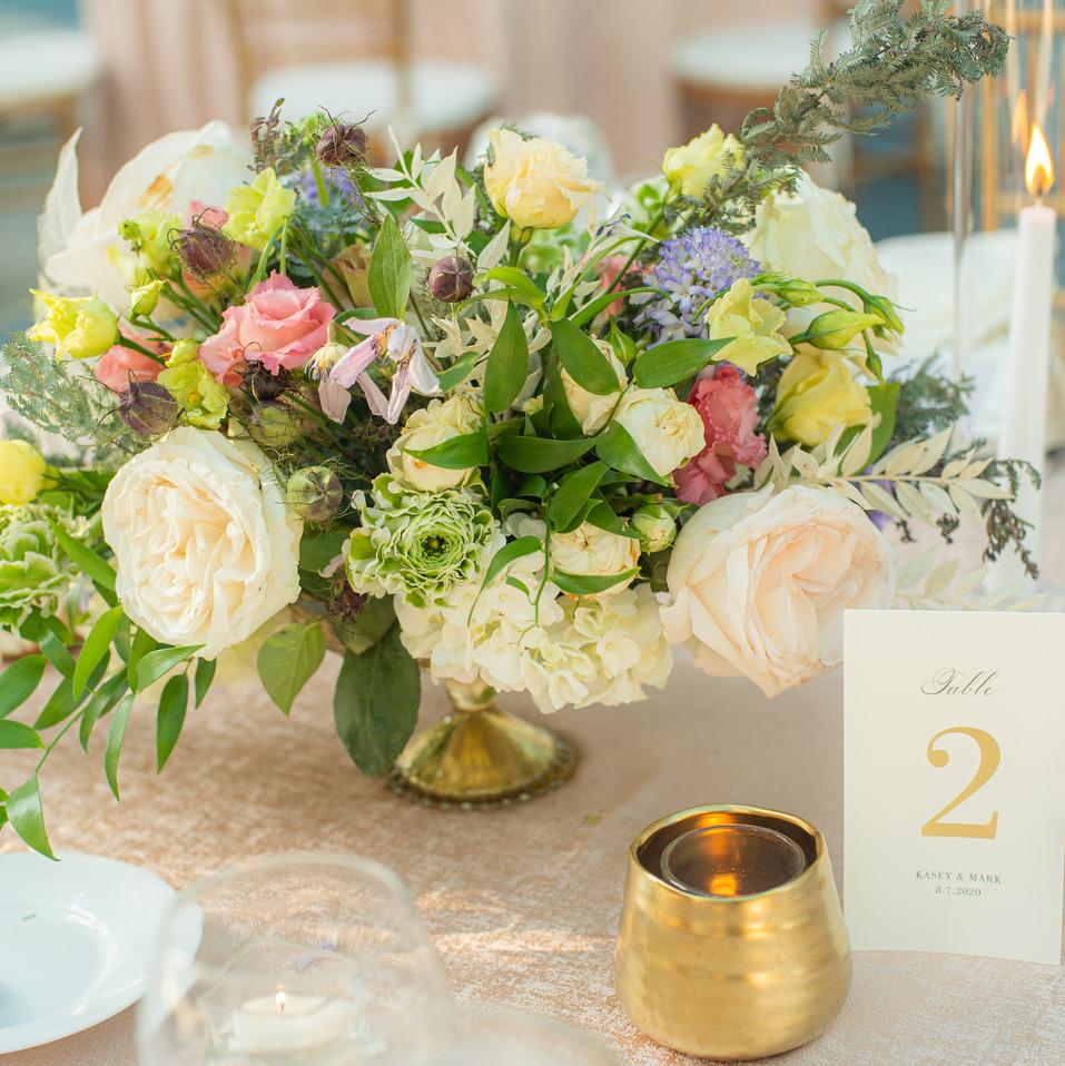 Kasey + Mark lush florals