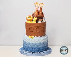 Noah's Ark Baptism Cake