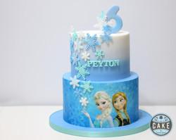 Frozen Snowflakes Cake Custom