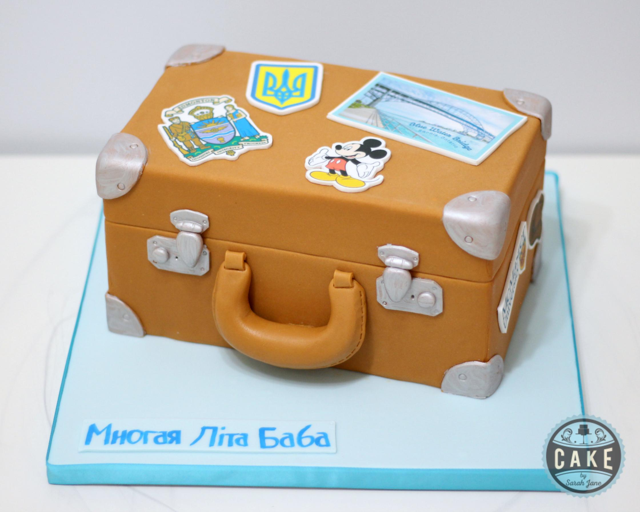 Custom Suitcase Birthday Cake
