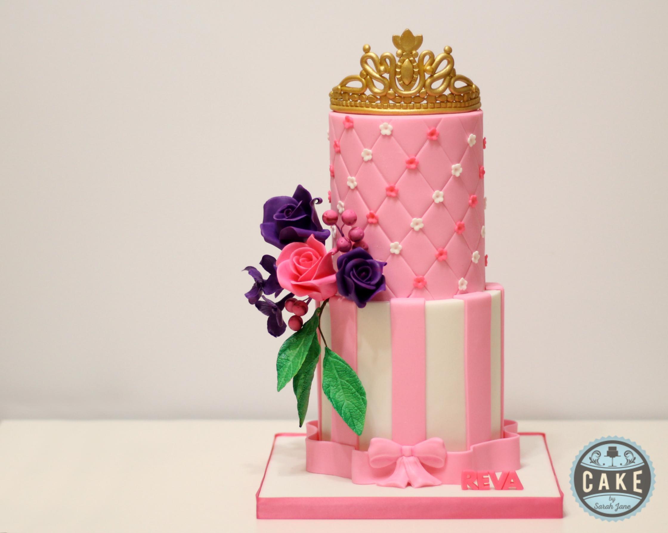 Princess Birthday Cake Pink Purple Custom Cake Calgary
