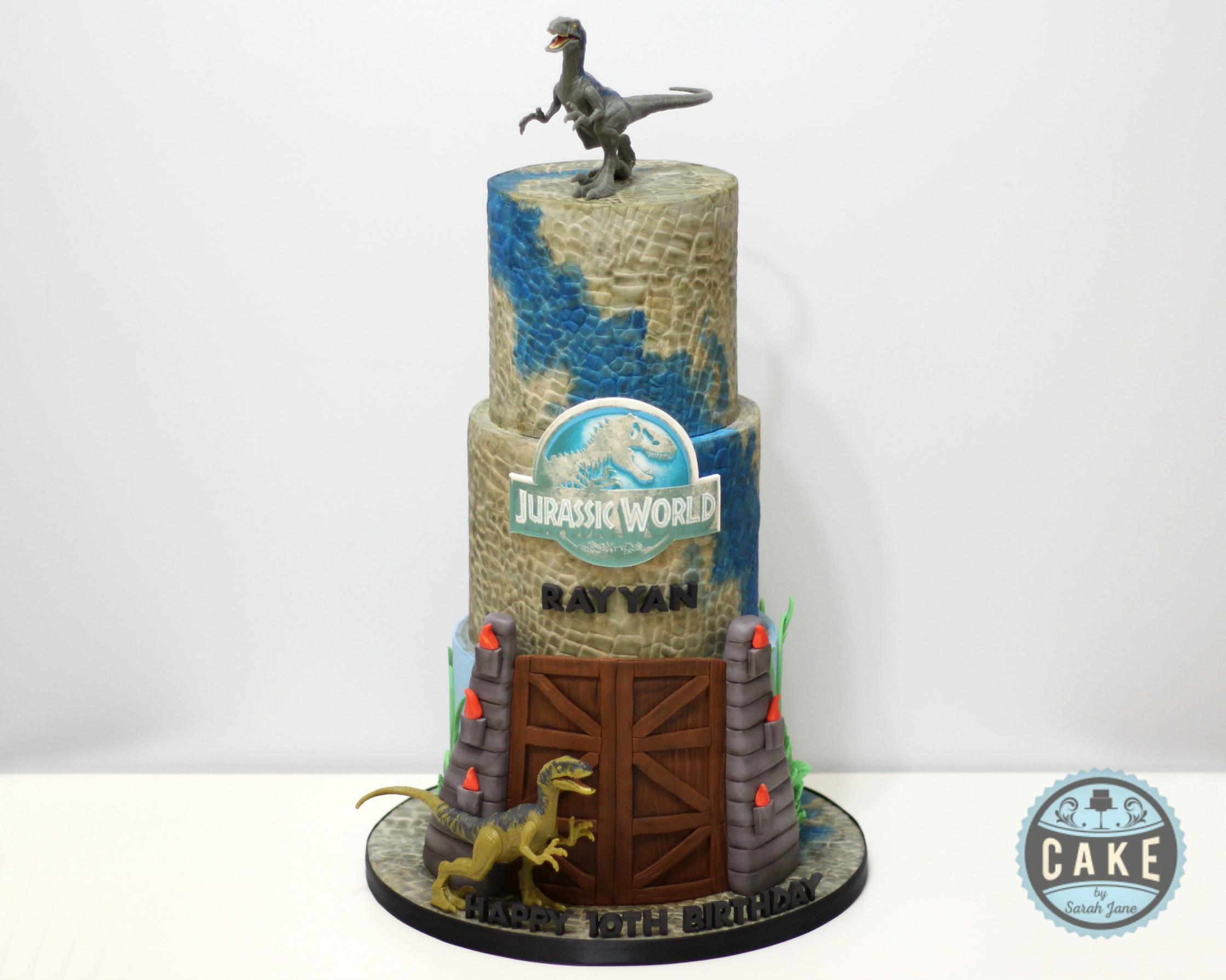 Jurassic World Birthday Cake Blue