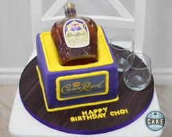 Crown Royal Custom Cake