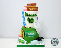 40 Over the Hill Birthday Cake