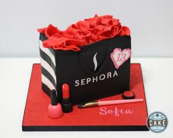 Sephora Makeup bag cake