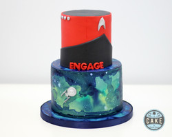 Engagement Cake Engage Star Trek Enterprise Space