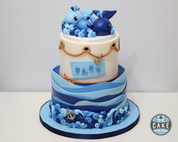 Baby Shower Whale Cake
