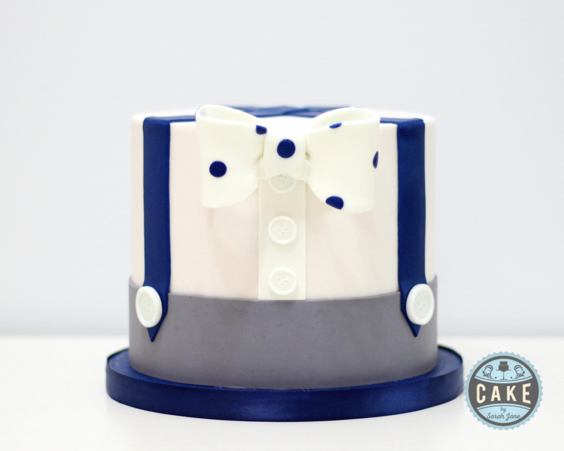 Baby Shower Bow Tie Cake
