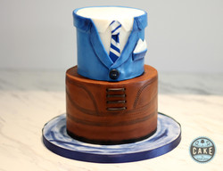 Dress Shoe Suit Custom Cake Calgary