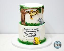 Vintage Winnie the Pooh Cake hand painte