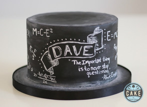 Chalkboard Science Birthday Cake