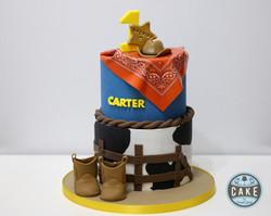 Western Stampede Cowboy boots cake