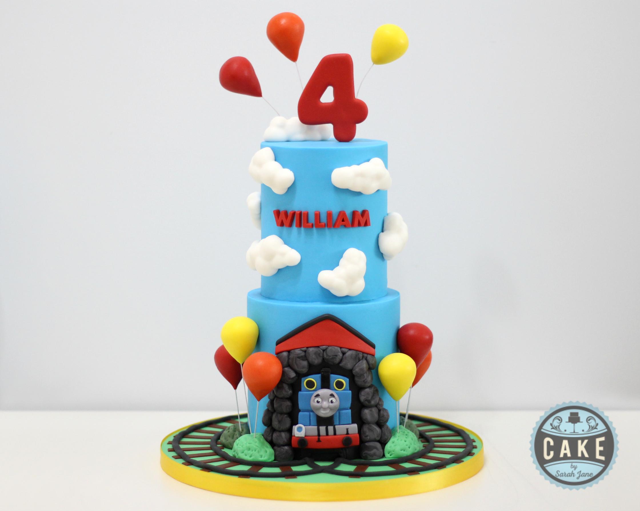 Thomas the Train Birthday Cake Balloons.
