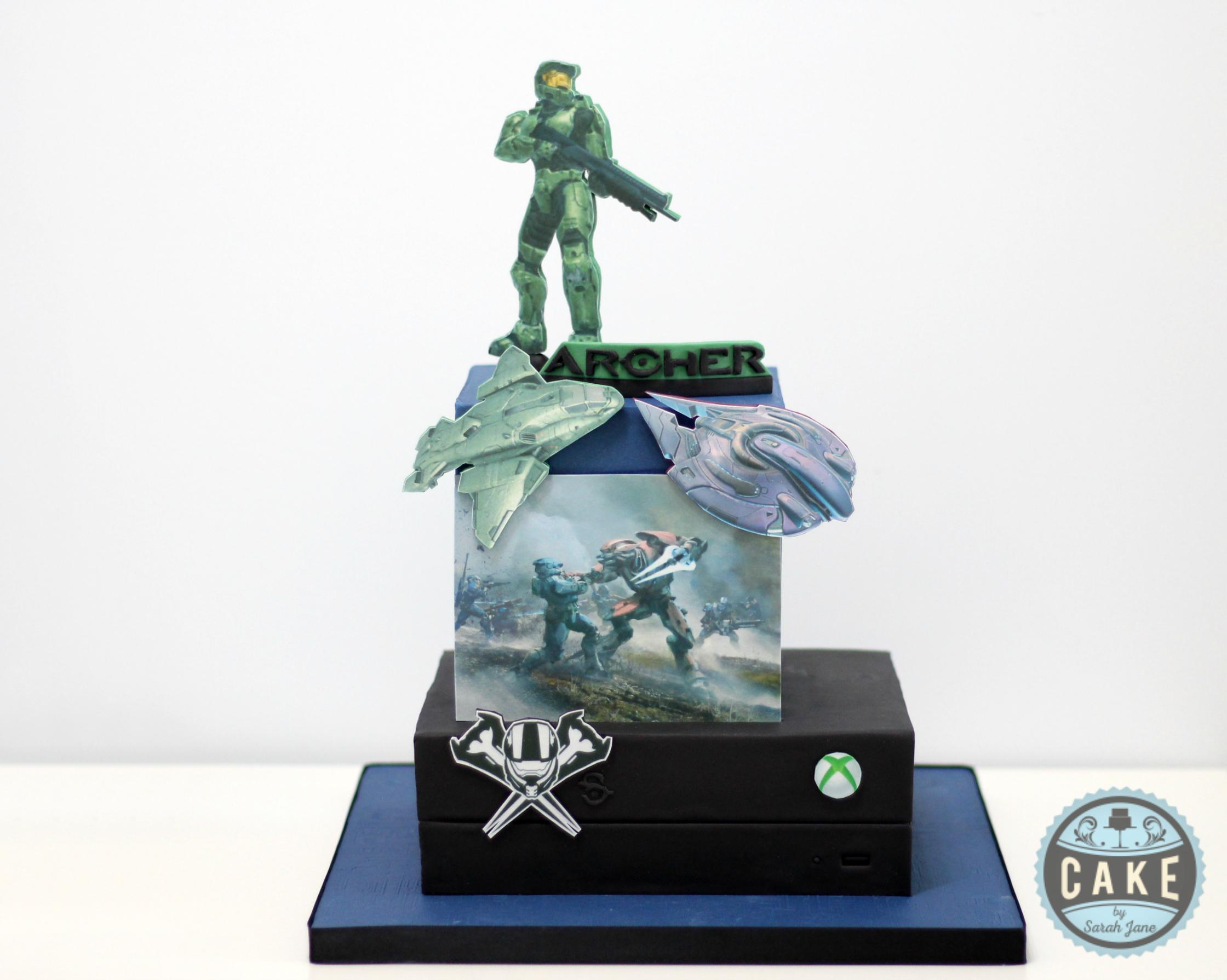 Halo Reach Birthday Cake