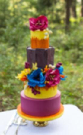 Pink and Gold Marble Rock Geode Custom Cake Calgary