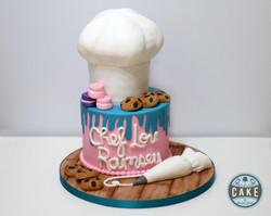 Chef Baking Birthday Cake