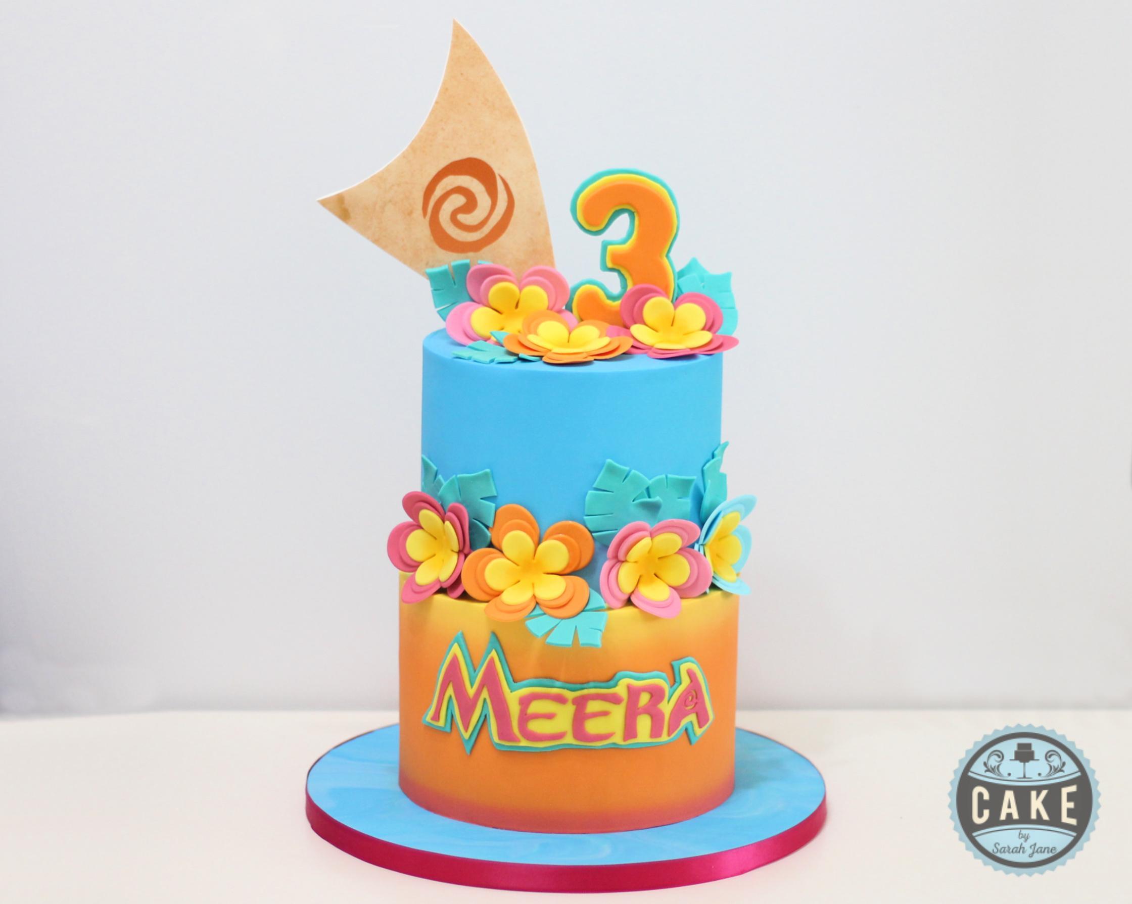 Meera Moana Birthday Cake Sail