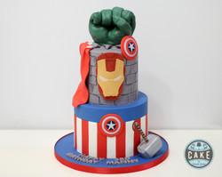 Avengers Birthday Cake Custom