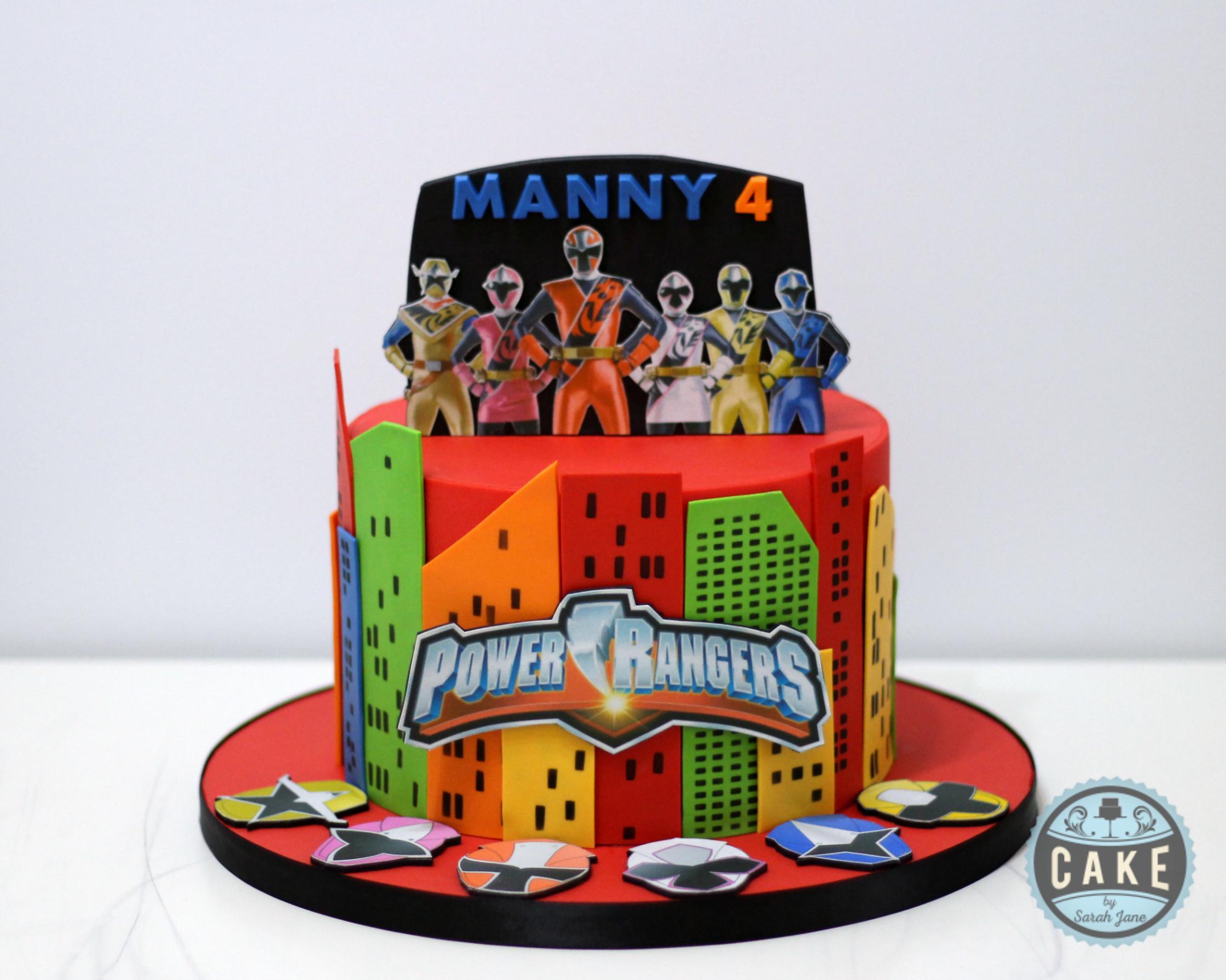 Power Rangers Cake Birthday