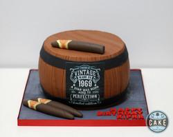 Whiskey Barrel 50 Birthday Cake