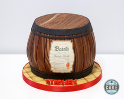 Baird's Scotch Whisky Barrel Birthday Ca
