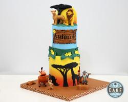 lion king sunset birthday cake
