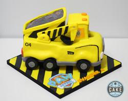 Paw Patrol construction truck cake