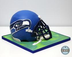 Seattle Seahawks Helmet Cake Custom Calgary