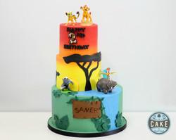 The Lion Guard Sunset Jungle Birthday Cake