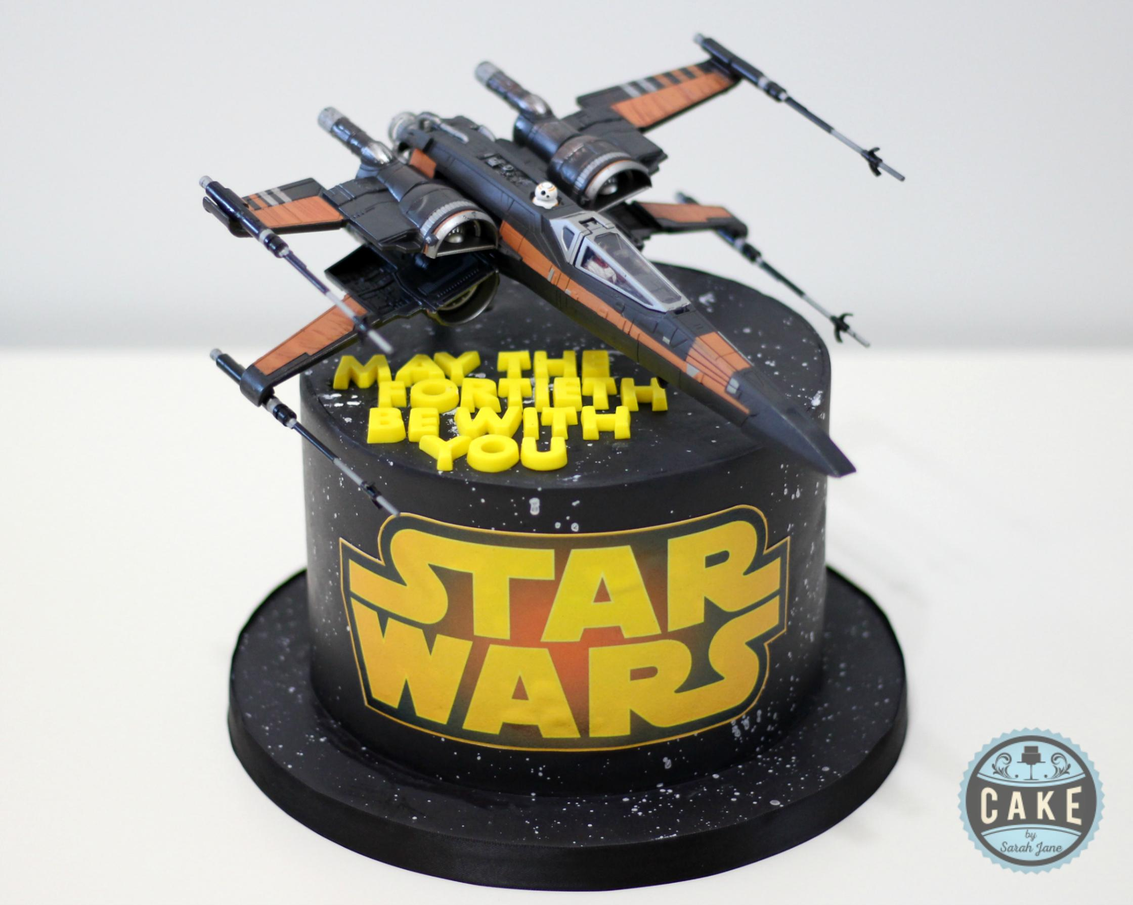 May the Fortieth Be With You custom cake
