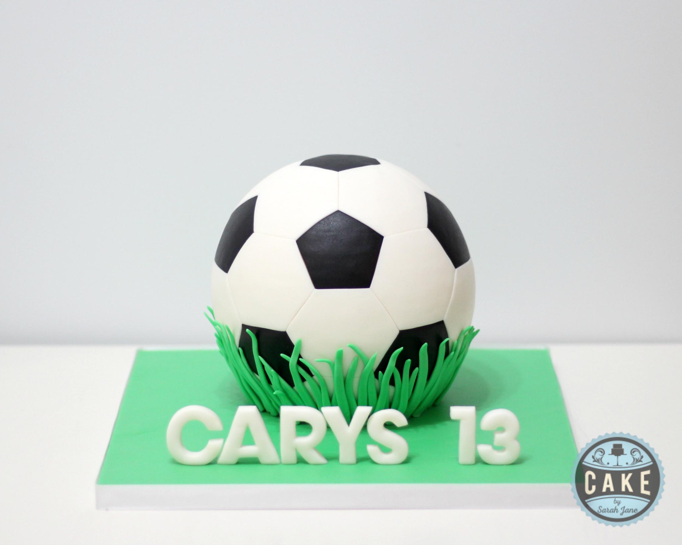 soccer ball cake custom